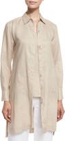 Go Silk Petite Long-Sleeve Linen Duster