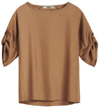 Zenggi Caramel Relaxed Silky Top - small