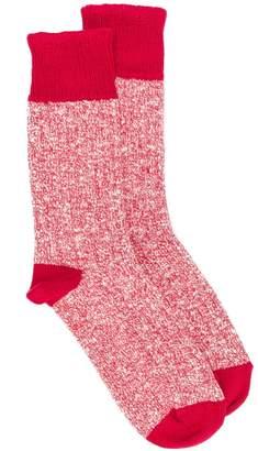 YMC marled-effect mid-calf socks