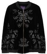 Violeta BY MANGO Embroidered velvet bomber jacket