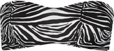 Norma Kamali Sunglass zebra-print bandeau bikini top
