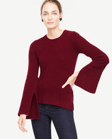 Ann Taylor Cashmere Boucle Slit Cuff Sweater