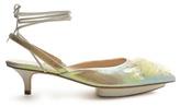 DELPOZO Point-toe sequin-embellished slingback pumps