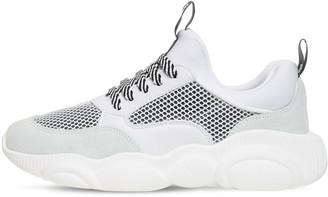 Moschino 30mm Mesh, Suede & Neoprene Sneakers