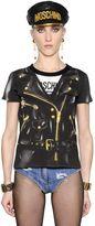 Moschino Biker Trompe L'oeil Jersey T-Shirt