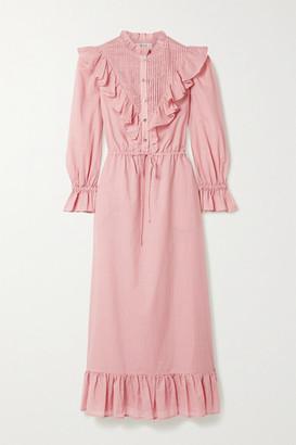 Sea Clara Ruffled Cotton-voile Dress - Antique rose