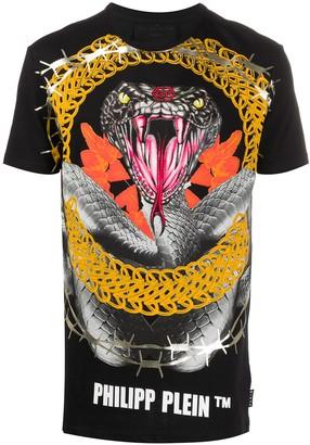 Philipp Plein snake-print T-shirt