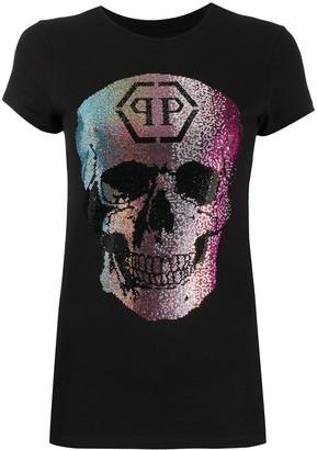 Philipp Plein ombre skull print T-shirt