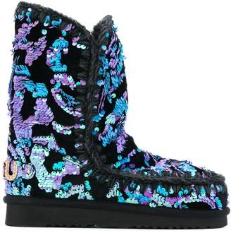 Mou Eskimo 24 velvet sequin boots
