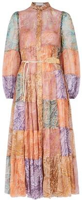Zimmermann Brighton printed silk-georgette midi dress