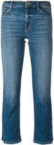 J Brand faded pattern cropped jeans - women - Cotton/Polyurethane - 24