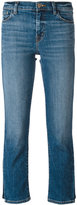 J Brand faded pattern cropped jeans
