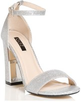 Quiz Shimmer Barely There Block Heeled Sandal