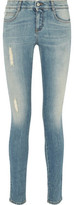 Stella McCartney Distressed Mid-Rise Skinny-Leg Jeans