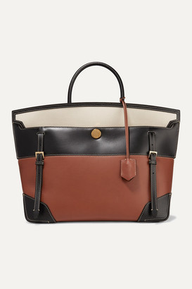 Burberry Buckle-embellished Canvas And Leather Tote - Brown