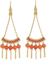 Henri Bendel Tribal Beaded Chandelier Earring