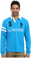 U.S. Polo Assn. Long Sleeve Heavy Weight Cotton Jersey Rugby Polo