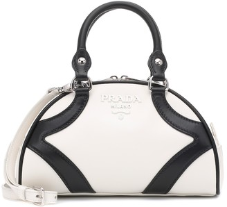 Prada Bowling leather tote