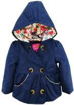 Pink Platinum Baby Girls Emma Spring Jacket Double Breasted Trench Coat