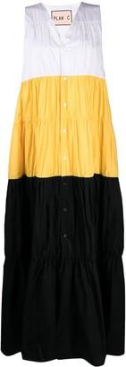 Plan C Colour-Block Tiered Dress