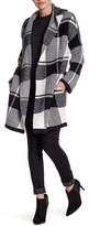 Willow & Clay Open Front Hooded Plaid Cardigan