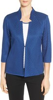 Ming Wang Mandarin Collar Knit Jacket