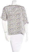 Yigal Azrouel Splatter Print Silk Top w/ Tags