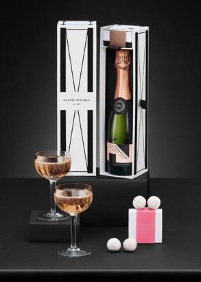 Harvey Nichols Rose Champagne Half Bottle & Pink Chocolate Truffles 40g Gift Box
