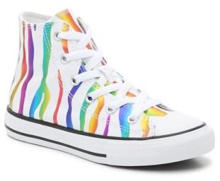 Converse Chuck Taylor All Star Rainbow Zebra High-Top Sneakers - Kids'