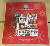 Martha Stewart Collection Vintage Holiday Square Glass Platter