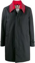 Burberry Detachable-Collar Car Coat