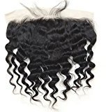 Vogue Queen Loose Wave 13x4 Ear to Ear Full Lace Frontal Closure with Baby Hair Brazilian Virgin Human Hair Natural Color (14 inches)