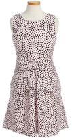 Kate Spade Girl's 'Jillian' Sleeveless Polka Dot Dress
