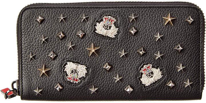 Christian Louboutin Panettone Leather Zip Around Wallet