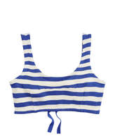 Ralph Lauren Striped Silk Bra Top