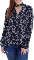 BB Dakota Black Floral Top