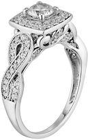 Vera Wang Simply vera diamond halo engagement ring in 14k white gold (1 ct. t.w.)