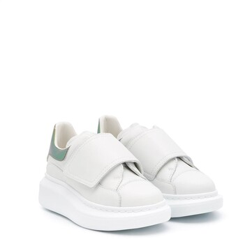 ALEXANDER MCQUEEN KIDS Oversized leather chunky sneakers