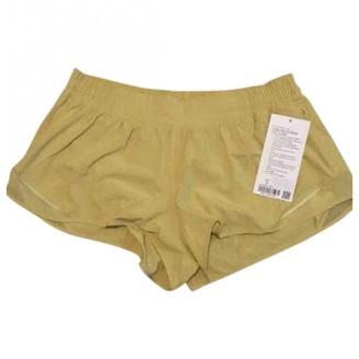 Lululemon Yellow Polyester Shorts