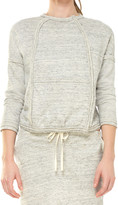 Max Studio Heathered French Terry Zip Up Jacket