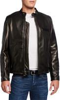 Schott NYC Men's Racer Pebbled Cowhide Leather Jacket