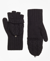 Brooks Brothers Cable Knit Mittens
