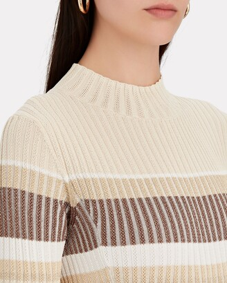 Proenza Schouler Zig-Zag Stripe Rib Knit Midi Dress