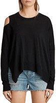 AllSaints Cecily Cold-Shoulder Sweater