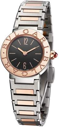 Bvlgari Rose Gold and Stainless Steel Lady Watch 23mm