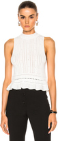 3.1 Phillip Lim Compact Pointelle Lace Cropped Tank
