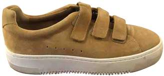 Sandro Beige Leather Trainers