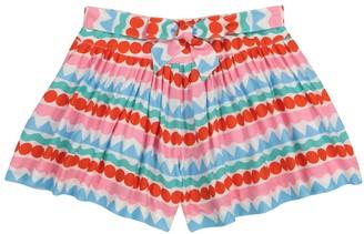 Stella McCartney Kids Striped crepe shorts