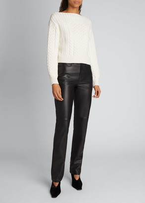 Proenza Schouler White Label Chunky Wool Cable-Knit Sweater