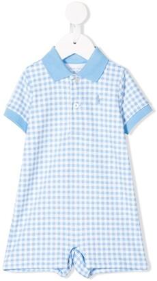 Ralph Lauren Kids Gingham Checked Polo Shorties